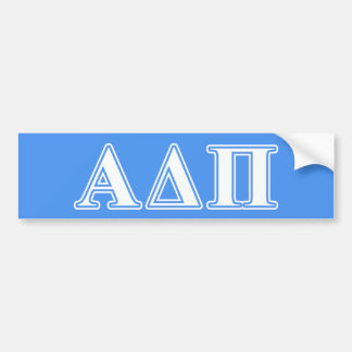 Alpha Delta Pi Dark Blue and White Letters Bumper Sticker