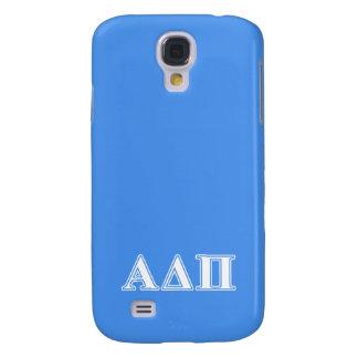 Alpha Delta Pi Dark Blue and White Letters Galaxy S4 Case