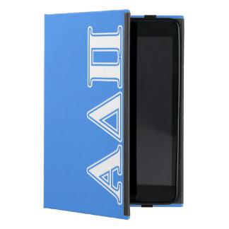 Alpha Delta Pi Dark Blue and White Letters iPad Mini Case