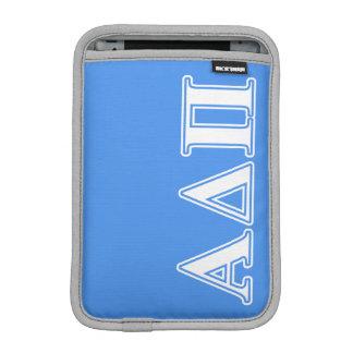 Alpha Delta Pi Dark Blue and White Letters iPad Mini Sleeve