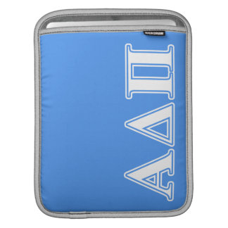 Alpha Delta Pi Dark Blue and White Letters iPad Sleeve