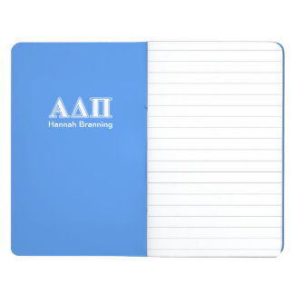 Alpha Delta Pi Dark Blue and White Letters Journal