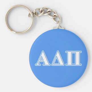 Alpha Delta Pi Dark Blue and White Letters Key Ring