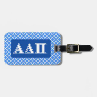 Alpha Delta Pi Dark Blue and White Letters Luggage Tag