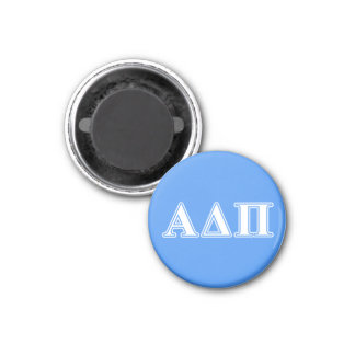 Alpha Delta Pi Dark Blue and White Letters Magnet