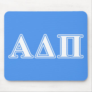 Alpha Delta Pi Dark Blue and White Letters Mouse Mat