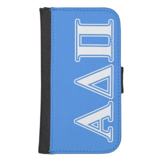 Alpha Delta Pi Dark Blue and White Letters Samsung S4 Wallet Case