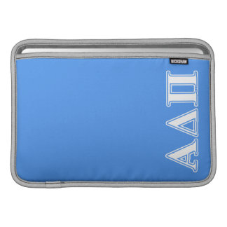 Alpha Delta Pi Dark Blue and White Letters Sleeve For MacBook Air