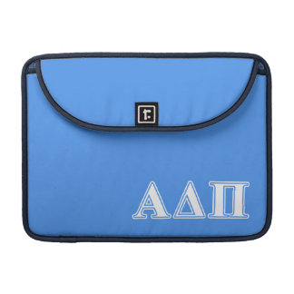 Alpha Delta Pi Dark Blue and White Letters Sleeve For MacBook Pro