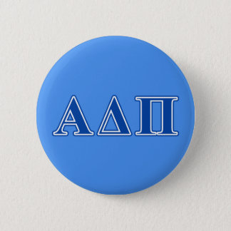 Alpha Delta Pi Dark Blue Letters 6 Cm Round Badge
