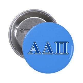 Alpha Delta Pi Dark Blue Letters 6 Cm Round Badge