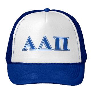 Alpha Delta Pi Dark Blue Letters Cap