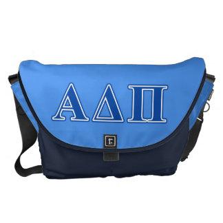 Alpha Delta Pi Dark Blue Letters Courier Bag