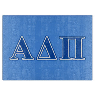 Alpha Delta Pi Dark Blue Letters Cutting Board