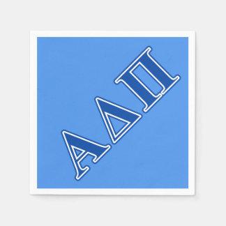 Alpha Delta Pi Dark Blue Letters Disposable Napkins