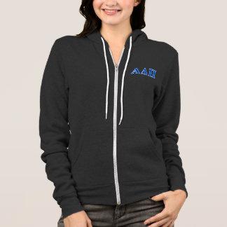 Alpha Delta Pi Dark Blue Letters Hoodie