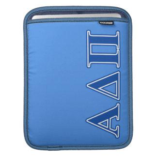 Alpha Delta Pi Dark Blue Letters iPad Sleeve