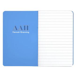 Alpha Delta Pi Dark Blue Letters Journal