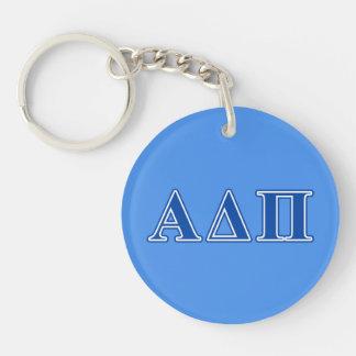 Alpha Delta Pi Dark Blue Letters Key Ring