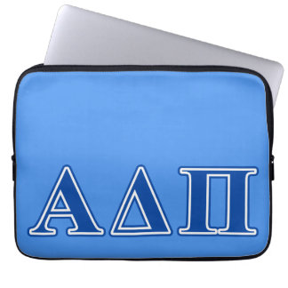 Alpha Delta Pi Dark Blue Letters Laptop Sleeve