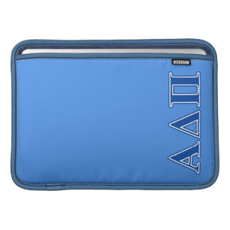 Alpha Delta Pi Dark Blue Letters MacBook Sleeve