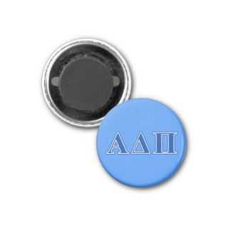 Alpha Delta Pi Dark Blue Letters Magnet