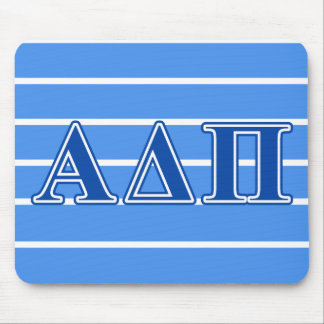 Alpha Delta Pi Dark Blue Letters Mouse Mat