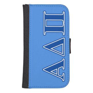 Alpha Delta Pi Dark Blue Letters Samsung S4 Wallet Case