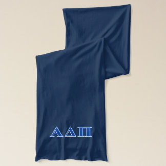Alpha Delta Pi Dark Blue Letters Scarf