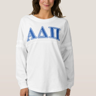 Alpha Delta Pi Dark Blue Letters Spirit Jersey