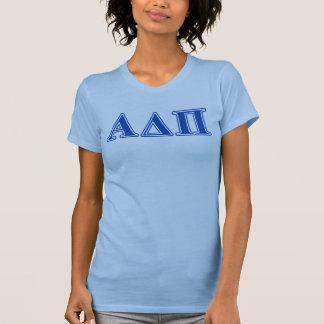 Alpha Delta Pi Dark Blue Letters T-Shirt