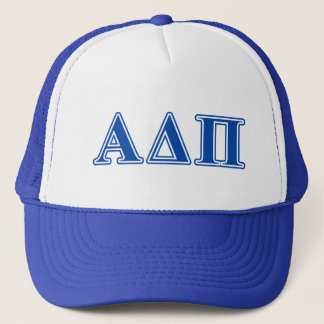Alpha Delta Pi Dark Blue Letters Trucker Hat