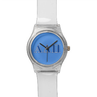 Alpha Delta Pi Dark Blue Letters Watch