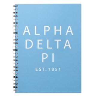 Alpha Delta Pi | Est. 1851 Spiral Notebook