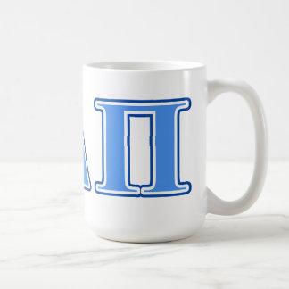Alpha Delta Pi Light Blue and Dark Blue Letters Coffee Mug
