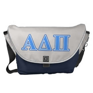 Alpha Delta Pi Light Blue and Dark Blue Letters Commuter Bags