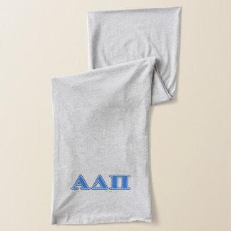 Alpha Delta Pi Light Blue and Dark Blue Letters Scarf