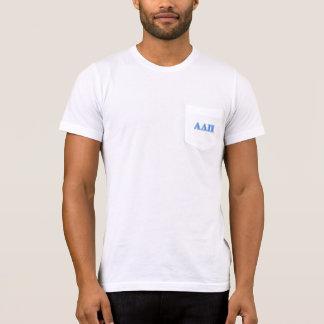 Alpha Delta Pi Light Blue and Dark Blue Letters T-Shirt