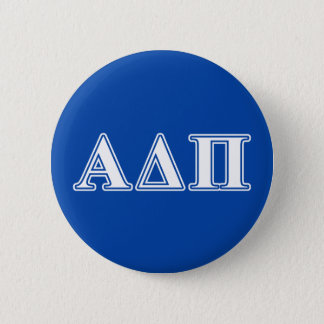 Alpha Delta Pi Light Blue and White Letters 6 Cm Round Badge