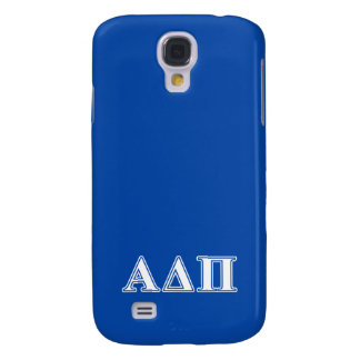 Alpha Delta Pi Light Blue and White Letters Galaxy S4 Case