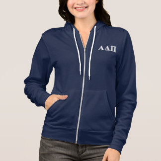 Alpha Delta Pi Light Blue and White Letters Hoodie