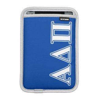 Alpha Delta Pi Light Blue and White Letters iPad Mini Sleeve