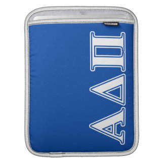Alpha Delta Pi Light Blue and White Letters iPad Sleeve