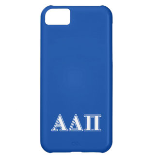 Alpha Delta Pi Light Blue and White Letters iPhone 5C Case