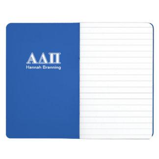 Alpha Delta Pi Light Blue and White Letters Journal