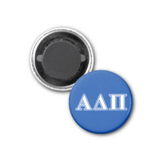 Alpha Delta Pi Light Blue and White Letters Magnet