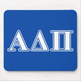 Alpha Delta Pi Light Blue and White Letters Mouse Mat