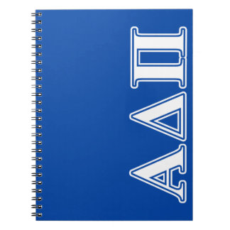 Alpha Delta Pi Light Blue and White Letters Notebook