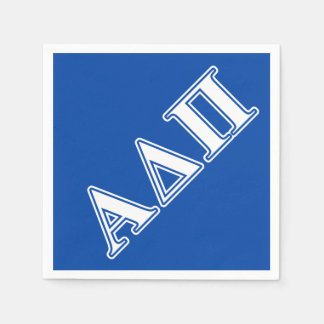 Alpha Delta Pi Light Blue and White Letters Paper Napkin