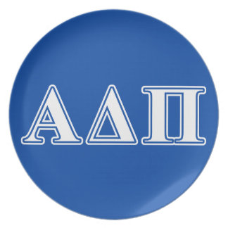 Alpha Delta Pi Light Blue and White Letters Plate